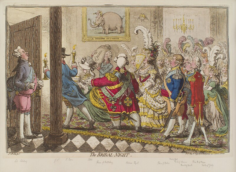 'The bridal night', by James Gillray, published by  Hannah Humphrey, published 18 May 1797 - NPG D12613 - © National Portrait Gallery, London