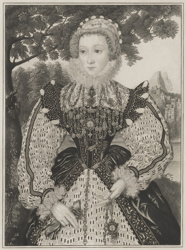 Unknown woman, formerly known as Mary, Queen of Scots, after Unknown artist, 19th century - NPG D13196 - © National Portrait Gallery, London