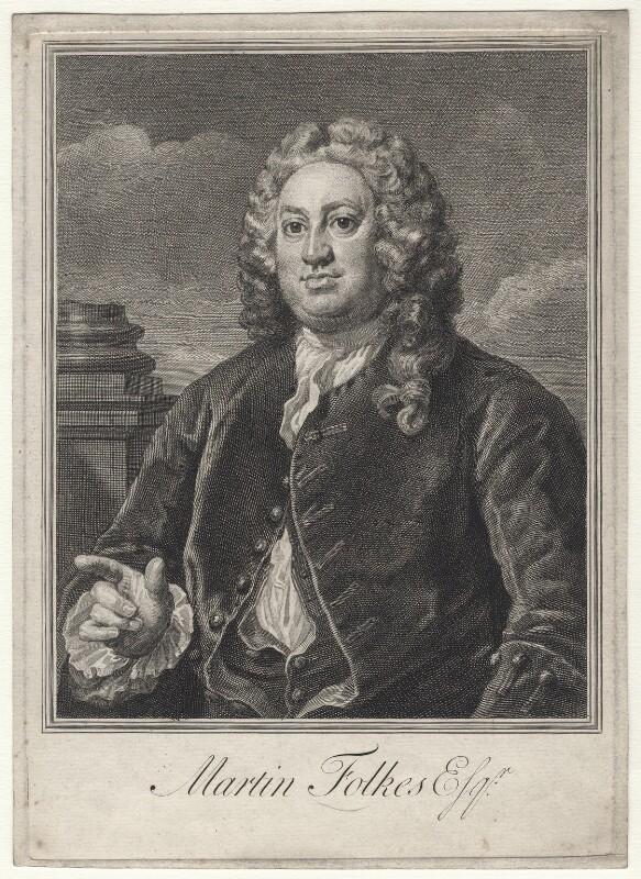 Martin Folkes, by William Hogarth, mid 18th century - NPG D13200 - © National Portrait Gallery, London