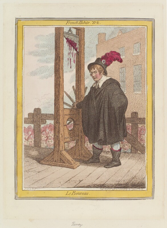 George Tierney ('Le boureau'), by James Gillray, published by  Hannah Humphrey, published 18 April 1798 - NPG D12641 - © National Portrait Gallery, London
