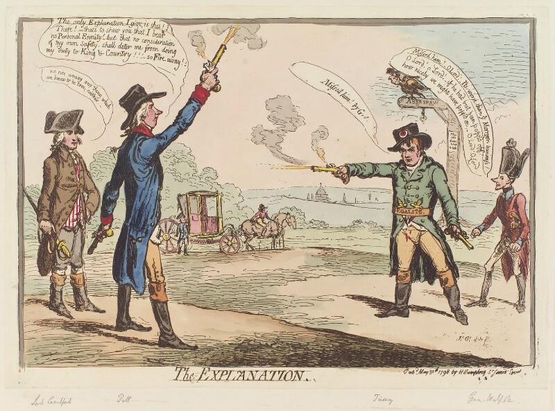 'The explanation', by James Gillray, published by  Hannah Humphrey, published 30 May 1798 - NPG D12651 - © National Portrait Gallery, London