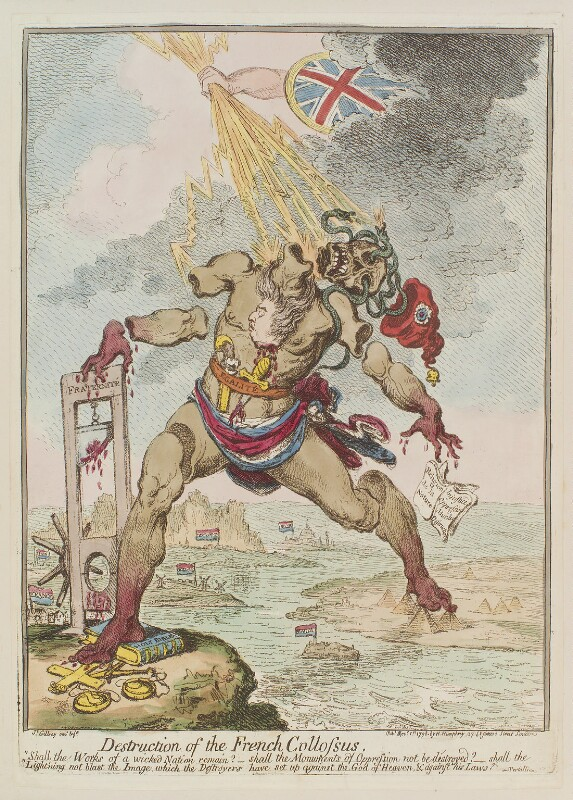 'Destruction of the French collossus', by James Gillray, published by  Hannah Humphrey, published 1 November 1798 - NPG D12662 - © National Portrait Gallery, London