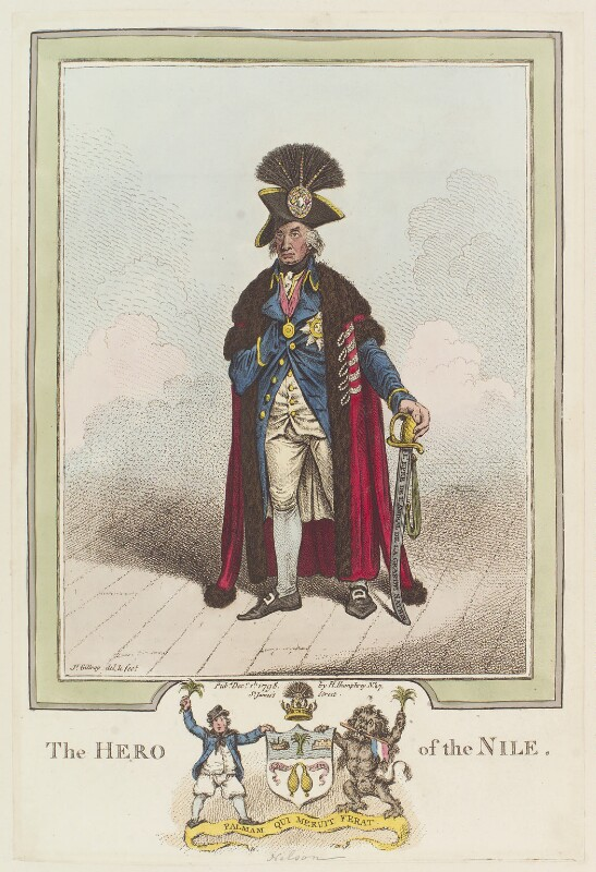Horatio Nelson ('The Hero of the Nile'), by James Gillray, published by  Hannah Humphrey, published 1 December 1798 - NPG D12668 - © National Portrait Gallery, London