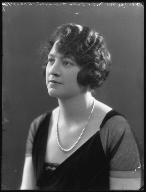 Vera Florence Annie Woodhouse (née Bousher), Lady Terrington, by Bassano Ltd, 3 March 1921 - NPG x36690 - © National Portrait Gallery, London