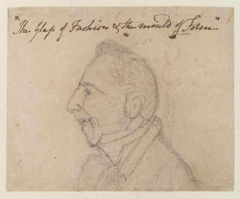 Unknown man, by James Gillray, circa 1800-1810 - NPG D12752 - © National Portrait Gallery, London