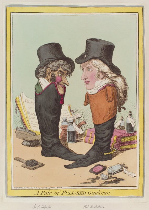 'A pair of polished gentlemen' (Sir Lumley St George Skeffington; Montague James Mathew), by James Gillray, published by  Hannah Humphrey, published 10 March 1801 - NPG D12757 - © National Portrait Gallery, London
