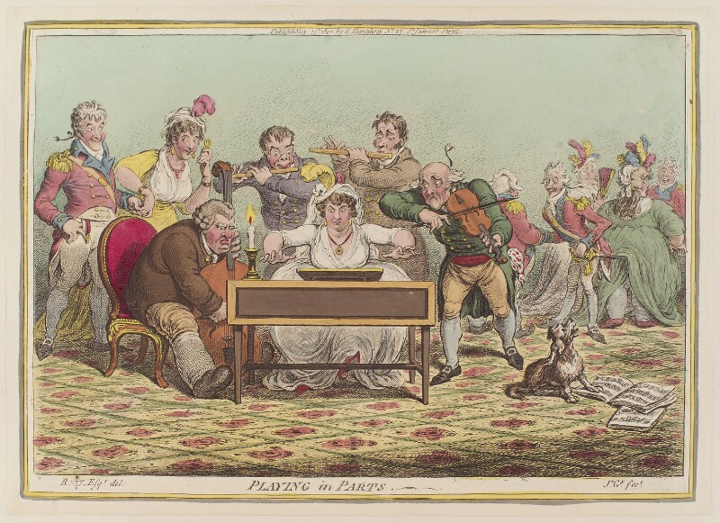 'Playing in parts', by James Gillray, published by  Hannah Humphrey, after  Brownlow North, published 15 May 1801 - NPG D12762 - © National Portrait Gallery, London