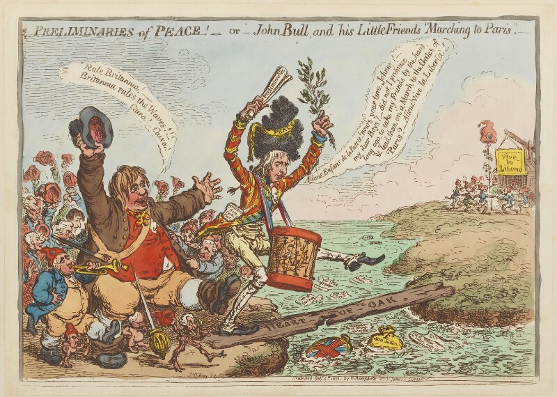 'Preliminaries of peace! - or - John Bull, and his little friends
