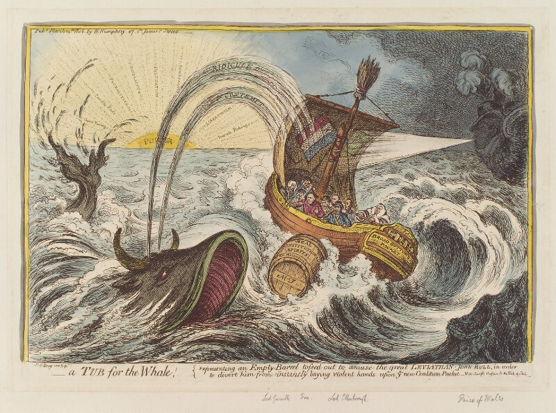 'A tub for the whale', by James Gillray, published by  Hannah Humphrey, published 14 March 1806 - NPG D12862 - © National Portrait Gallery, London