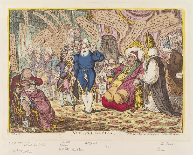 'Visiting the sick', by James Gillray, published by  Hannah Humphrey, published 28 July 1806 - NPG D12871 - © National Portrait Gallery, London
