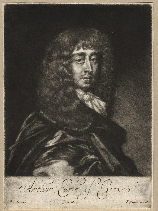 Arthur Capel, 1st Earl of Essex, by Edward Lutterell (Luttrell), published by  John Smith, after  Sir Peter Lely, circa 1682 - NPG D13143 - © National Portrait Gallery, London