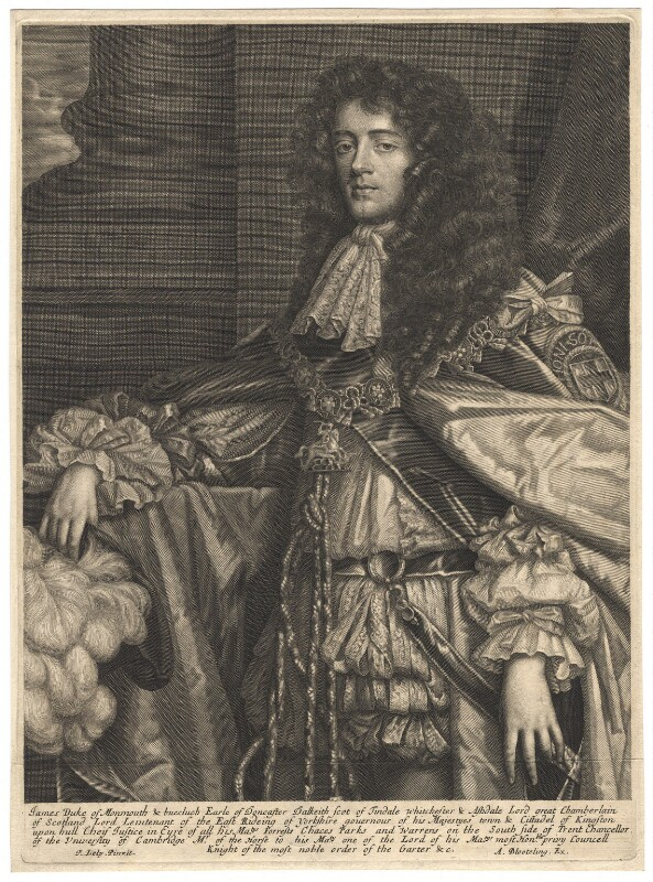James Scott, Duke of Monmouth and Buccleuch, published by Abraham Blooteling (Bloteling), after  Sir Peter Lely, circa 1680 - NPG D11989 - © National Portrait Gallery, London