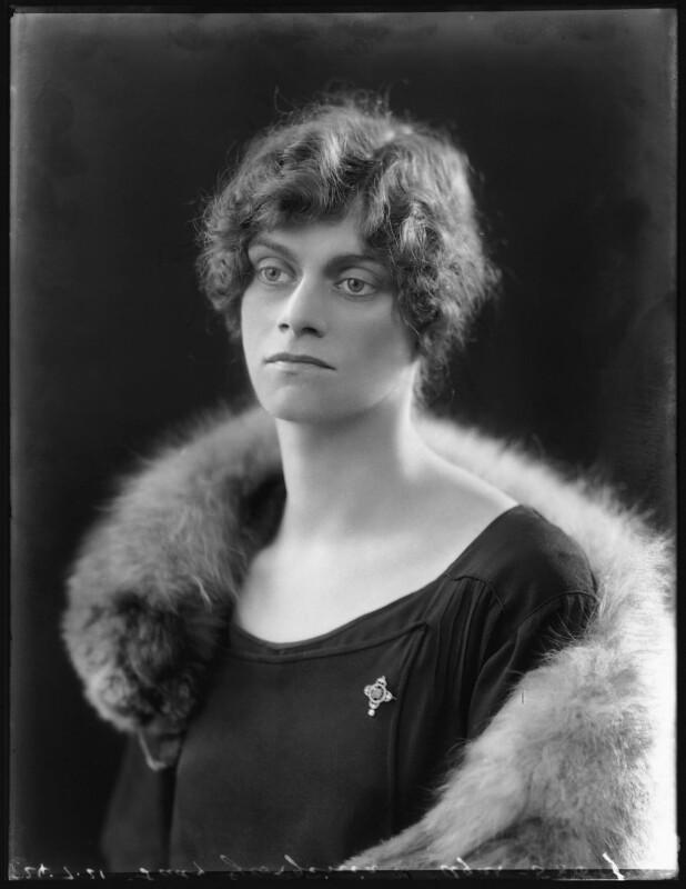 Lady Georgina Mary Elizabeth Agar, by Bassano Ltd, 24 July 1921 - NPG x121117 - © National Portrait Gallery, London