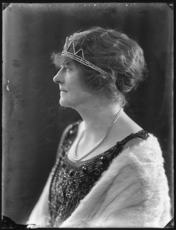Maud Fleming Annesley (née Higginson), Countess Annesley, by Bassano Ltd, 18 November 1921 - NPG x121229 - © National Portrait Gallery, London