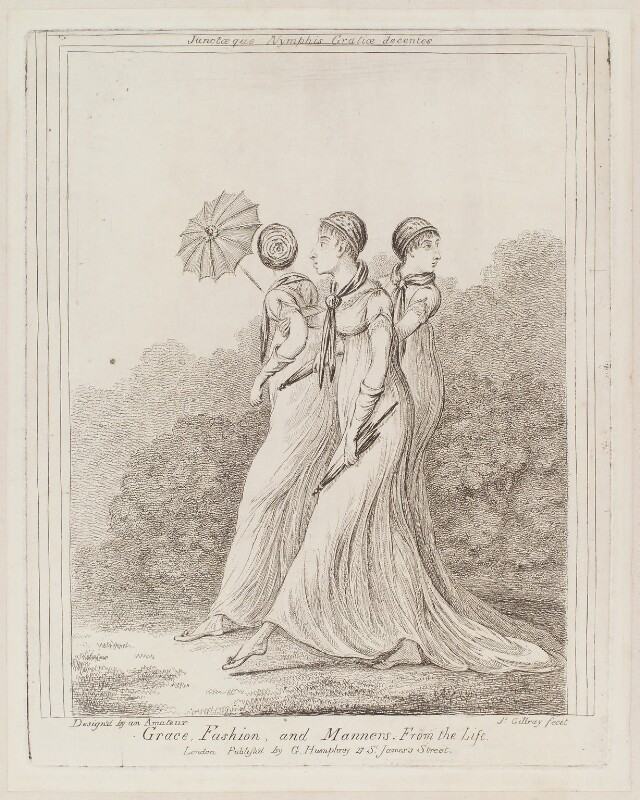 'Grace, fashion, and manners. From the life', by James Gillray, published by  George Humphrey, published circa 1818 (1810) - NPG D12949 - © National Portrait Gallery, London