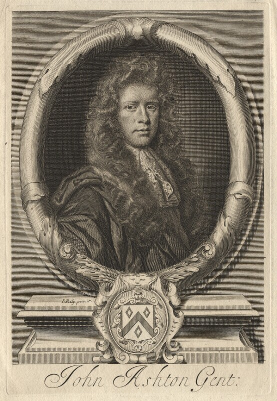 John Ashton, by Robert White, after  John Riley, late 17th century - NPG D13234 - © National Portrait Gallery, London