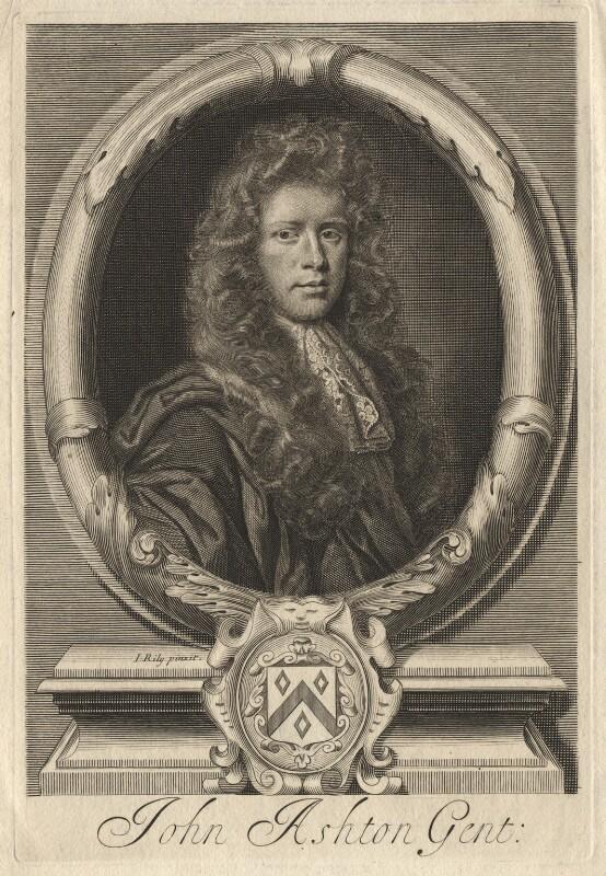 John Ashton, by Robert White, after  John Riley, late 17th century - NPG D13234 - © National Portrait Gallery, London