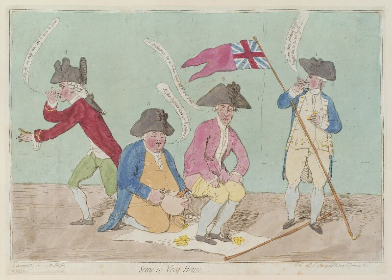 'Scene le vrog house', by James Gillray, published by  Elizabeth d'Achery, published 3 September 1782 - NPG D12988 - © National Portrait Gallery, London