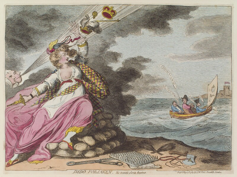 'Dido forsaken', by James Gillray, published by  Samuel William Fores, published 21 May 1787 - NPG D12994 - © National Portrait Gallery, London