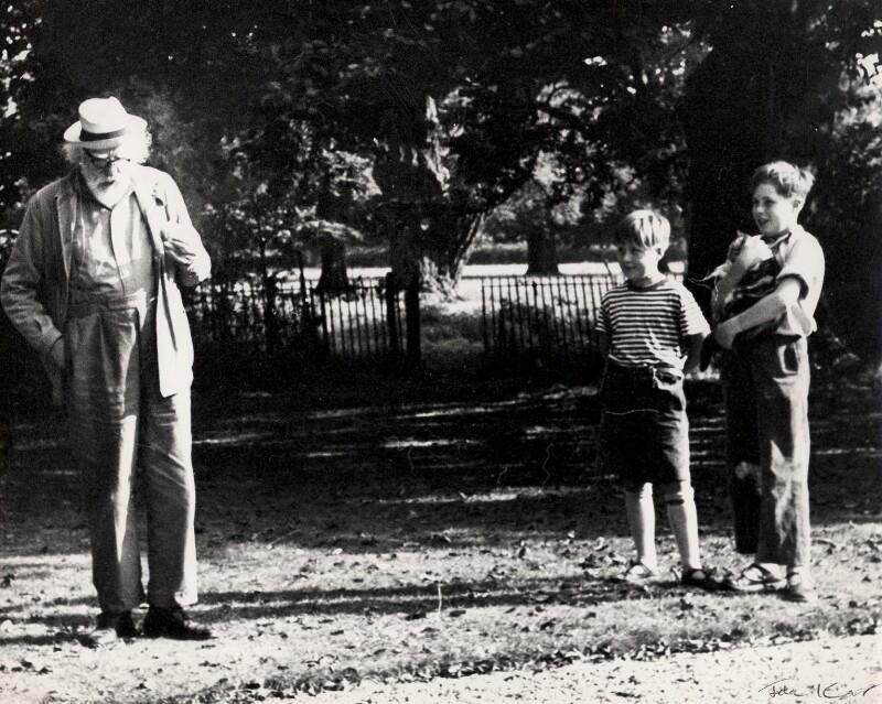 Augustus John; Julius White; Yuri White, by Ida Kar, 1959 - NPG x125513 - © National Portrait Gallery, London