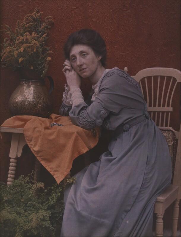 Olive Edis, by Sarah Jane Dugdale (née Hartland), early 1900s - NPG x38479 - © National Portrait Gallery, London