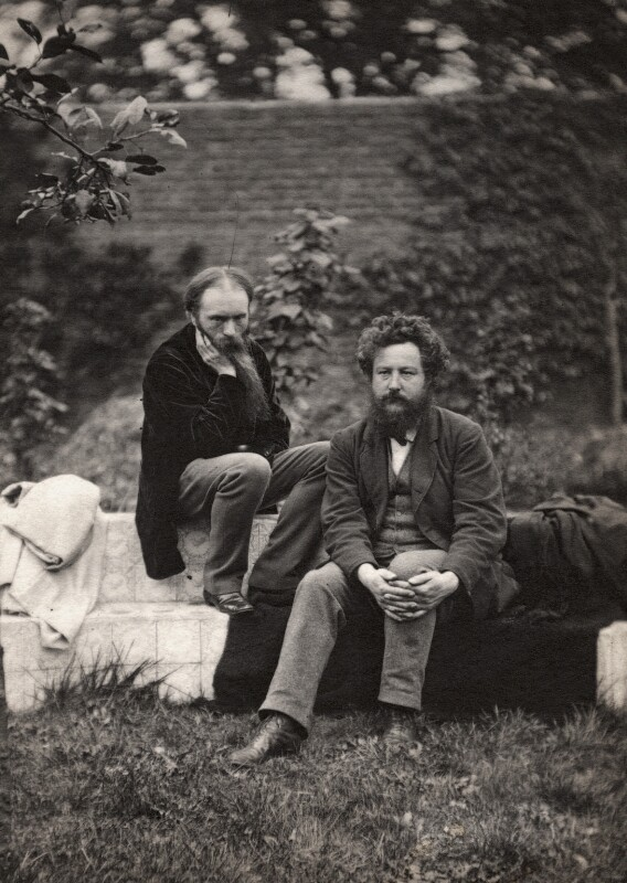 Sir Edward Coley Burne-Jones, 1st Bt; William Morris, by Frederick Hollyer, 1874 - NPG x3763 - © National Portrait Gallery, London