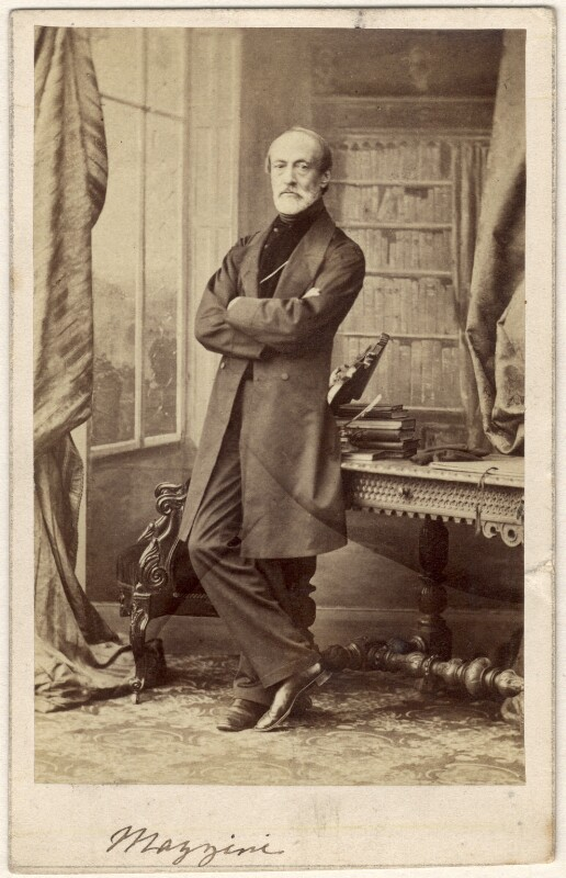 Giuseppe Mazzini, by Caldesi, Blanford & Co, early 1860s - NPG x20597 - © National Portrait Gallery, London