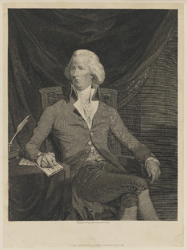 William Pitt, by James Gillray, published by  Samuel William Fores, published 20 February 1789 - NPG D13068 - © National Portrait Gallery, London