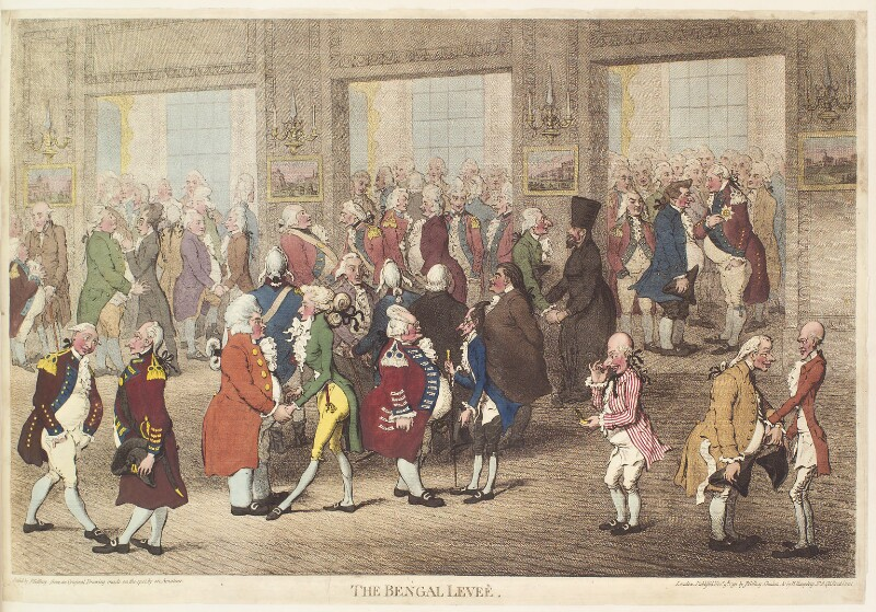 'The Bengal levee', by and published by James Gillray, published by  Hannah Humphrey, published 9 November 1792 - NPG D13079 - © National Portrait Gallery, London
