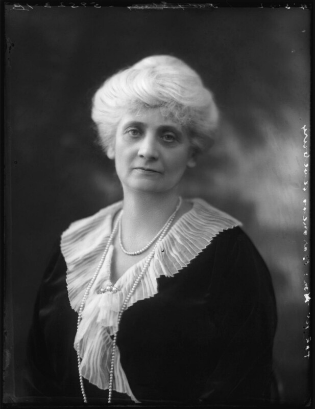 Alice Augusta Laurentia Lane (née Fox-Pitt-Rivers), Lady Avebury, by Bassano Ltd, 4 March 1922 - NPG x121375 - © National Portrait Gallery, London