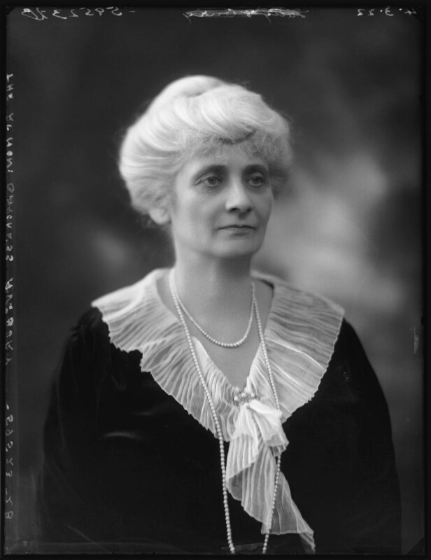 Alice Augusta Laurentia Lane (née Fox-Pitt-Rivers), Lady Avebury, by Bassano Ltd, 4 March 1922 - NPG x121376 - © National Portrait Gallery, London