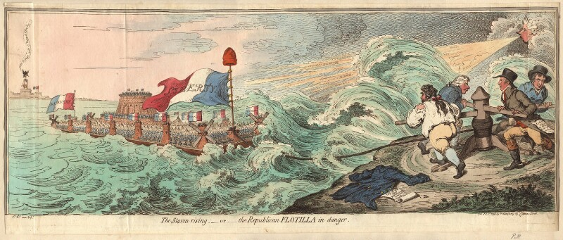 'The storm rising; - or - the Republican flotilla in danger', by James Gillray, published by  Hannah Humphrey, published 1 February 1798 - NPG D13091 - © National Portrait Gallery, London