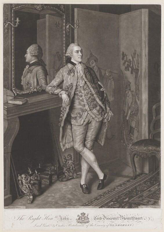 John Stuart, 1st Marquess of Bute, by John Raphael Smith, after  Jean Etienne Liotard, published 1774 - NPG D13244 - © National Portrait Gallery, London