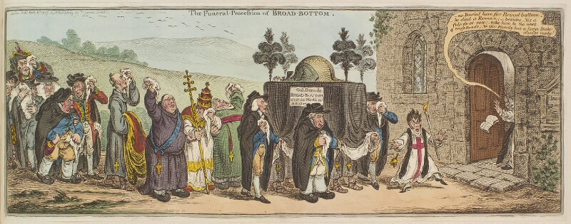 'The funeral procession of Broad-bottom', by James Gillray, published by  Hannah Humphrey, published 6 April 1807 - NPG D13114 - © National Portrait Gallery, London