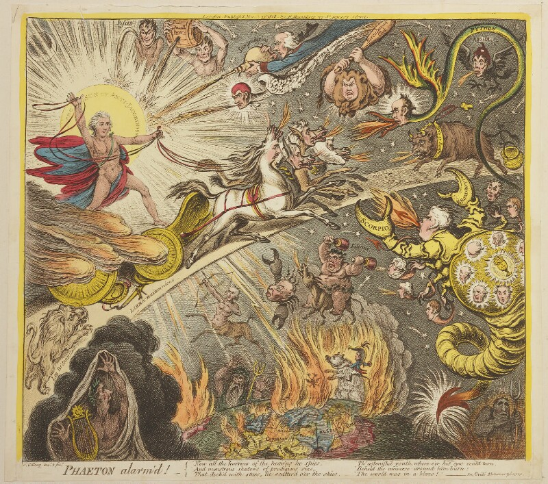 'Phaeton alarm'd!', by James Gillray, published by  Hannah Humphrey, published 22 March 1808 - NPG D13115 - © National Portrait Gallery, London