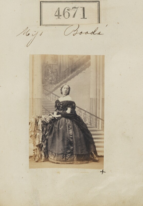 Miss Boode, by Camille Silvy, 27 June 1861 - NPG Ax54683 - © National Portrait Gallery, London