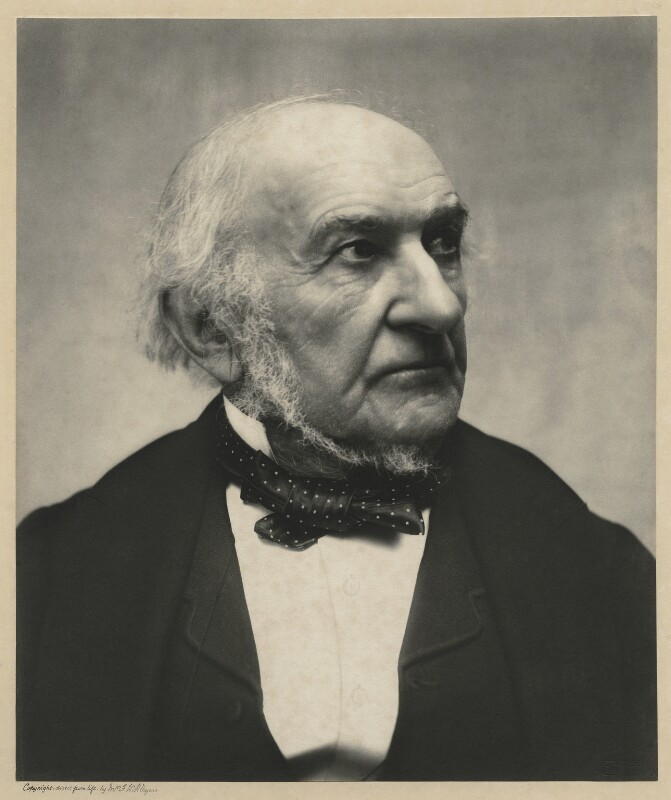 William Ewart Gladstone, by Eveleen Myers (née Tennant), 25 April 1890 - NPG x36433 - © National Portrait Gallery, London