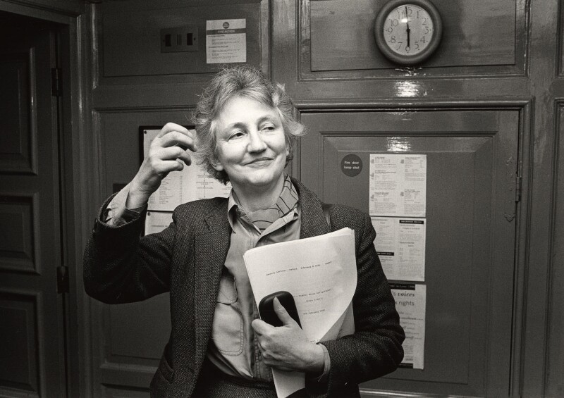 Onora Sylvia O'Neill, Baroness O'Neill of Bengarve, by Norman McBeath, February 1996 - NPG x87851 - © Norman McBeath / National Portrait Gallery, London