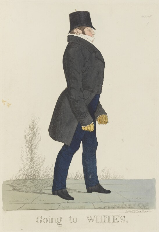 William Arden, 2nd Baron Alvanley ('Going to White's'), by and published by Richard Dighton, reissued by  Thomas McLean, published January 1819 - NPG D13315 - © National Portrait Gallery, London