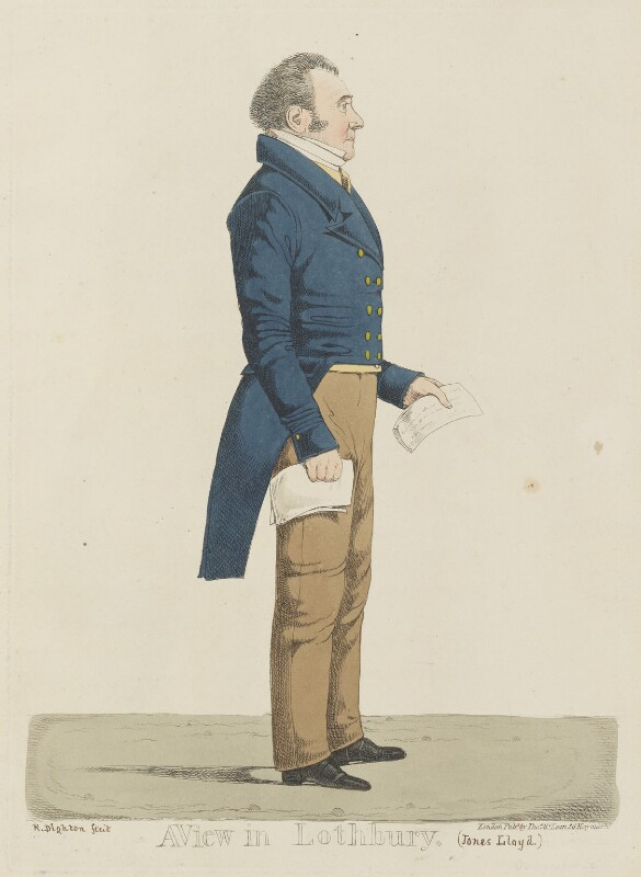 Jones Lloyd ('A view in Lothbury'), probably by and published by Richard Dighton, reissued by  Thomas McLean, circa 1817-1825 - NPG D13338 - © National Portrait Gallery, London