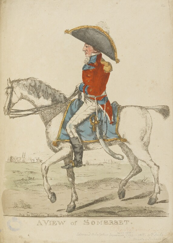 Probably Lord Charles Henry Somerset ('A view of Somerset'), by and published by Robert Dighton, published December 1811 - NPG D13349 - © National Portrait Gallery, London