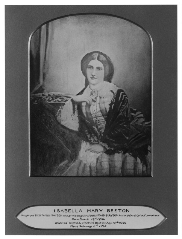 Isabella Beeton (Mrs Beeton), by Maull & Co, after  Maull & Polyblank, 1865-1877 (1857) - NPG x32791 - © National Portrait Gallery, London