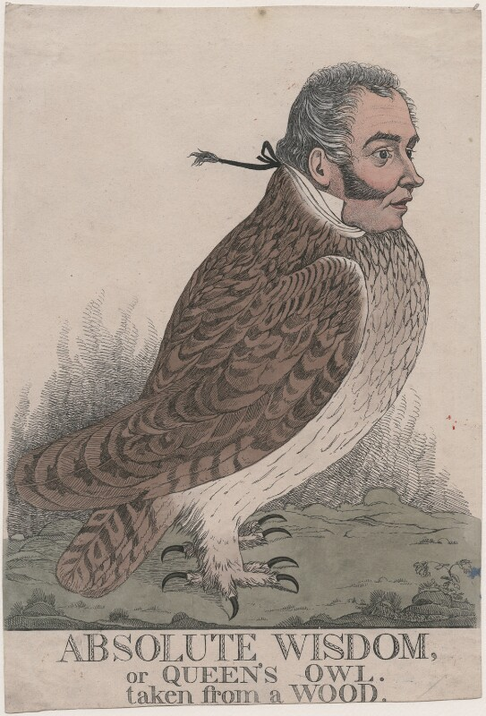 'Absolute wisdom, or Queen's owl. Taken from a wood' (Sir Matthew Wood, 1st Bt), by and published by Richard Dighton, circa 1817-1825 - NPG D13399 - © National Portrait Gallery, London