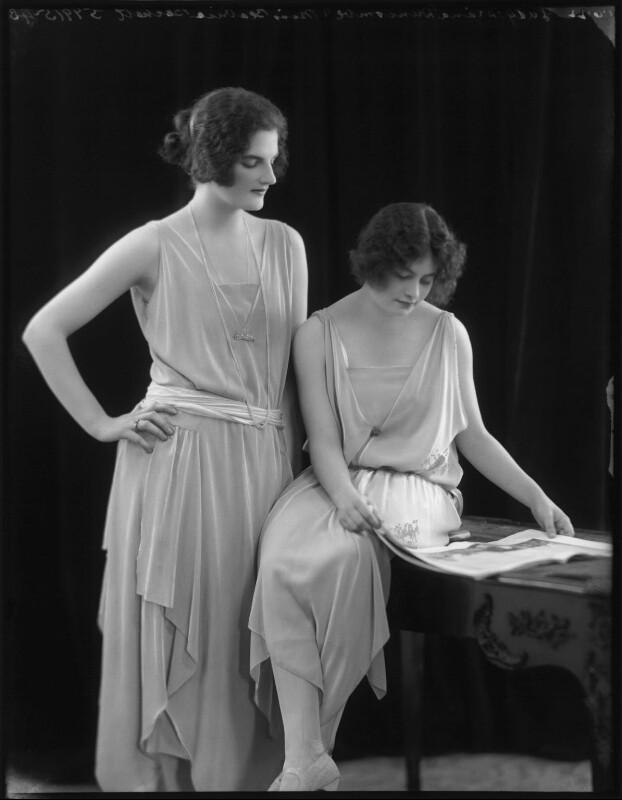 Beatrice Helen Eden (née Beckett); Lady (Mary) Diana Worthington (née Duncombe), by Bassano Ltd, 1 June 1922 - NPG x121619 - © National Portrait Gallery, London