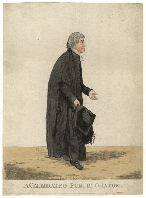 William Crowe ('A celebrated public orator'), by and published by Robert Dighton, published January 1808 - NPG D13435 - © National Portrait Gallery, London