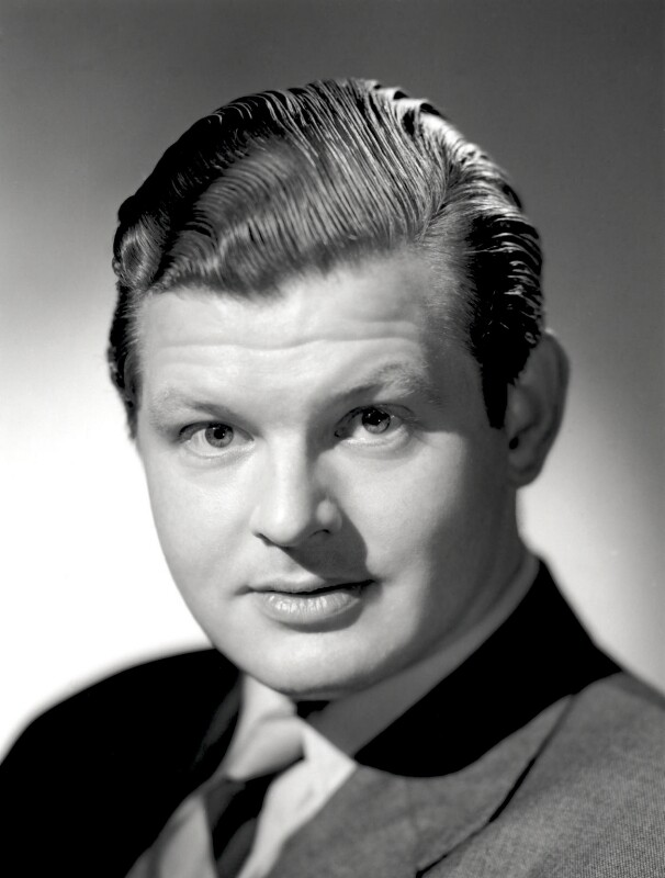 Benny Hill, by Count Zichy (Count Theodor Zichy), for  Baron Studios, 1954 - NPG x125593 - © National Portrait Gallery, London