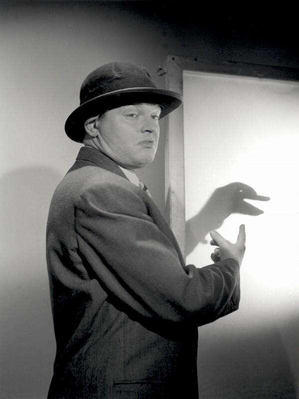 Benny Hill, by Count Zichy (Count Theodor Zichy), for  Baron Studios, 1954 - NPG x125596 - © National Portrait Gallery, London
