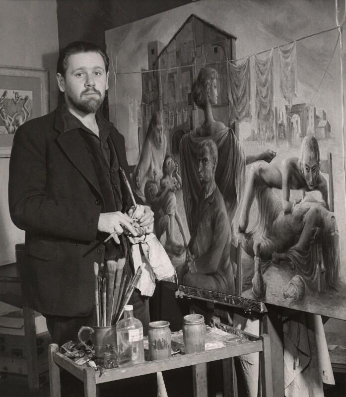 Michael Ayrton, by Lola Walker (Lola Marsden), 1950 - NPG x125620 - © Lola Marsden / National Portrait Gallery, London