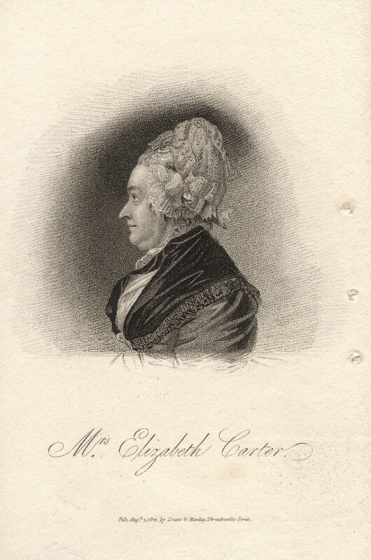 Elizabeth Carter, published by Dean & Munday, after  Joachim Smith, published 1 August 1821 - NPG D13647 - © National Portrait Gallery, London