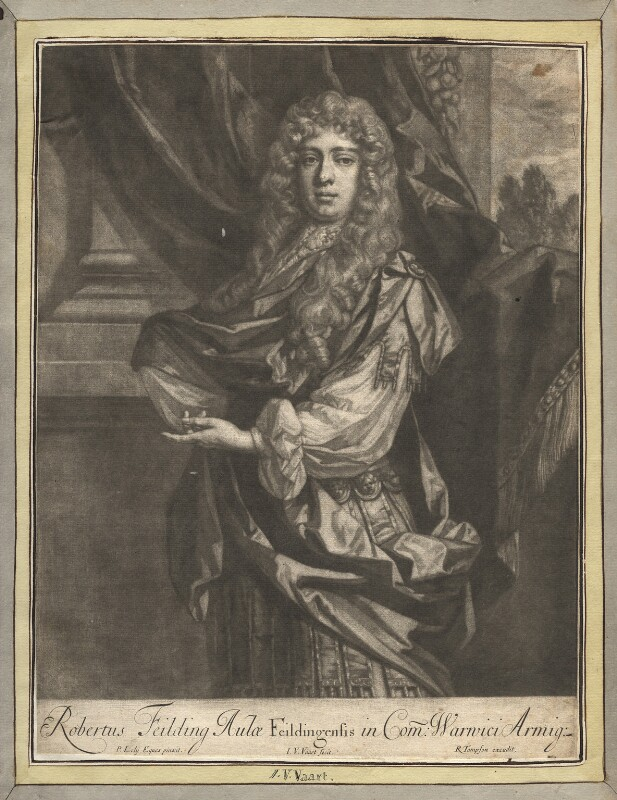 Robert ('Beau') Feilding, by Jan van der Vaart, published by  Richard Tompson, after  Sir Peter Lely, 1678-1679 - NPG D13672 - © National Portrait Gallery, London